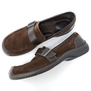 Born Loafers Brown Suede Monk Strap Comfort Shoes